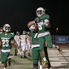 SHANE KEETER/Phoenix special photo<br /> Muskogee running back Jimmie Coleman celebrates after scoring a touchdown in the fourth quarter of Muskogee's 35-14 win over McAlester last Friday.