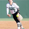 VON CASTOR/Phoenix Special Photo<br /> Muskogee pitcher Meadow Million delivers from the circle in game one of a doubleheader against Sapulpa on Tuesday. Million threw both games of the sweep.