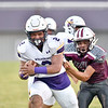 JIM WEBER/Special to the Phoenix<br /> Vian's Elijah Wright breaks free for touchdown on the opening kickoff against Eufaula. The Wolverines beat the Ironheads 14-2.