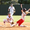 Phoenix special photo by John Hasler<br /> Fort Gibson's Maddi Jo Williams picks off Poteau Callie Hambrick at second after Hambrick reached first on an overthrow in the sixth inning. Fort Gibson won 4-1.