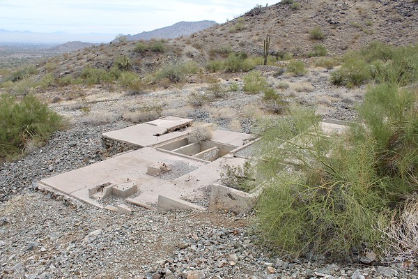 Ruins of the Max Delta Mine in South Mountain Park (2018)