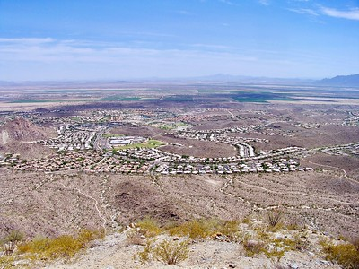 View of Ahwatukee from the Telegraph Pass Trail (2009)