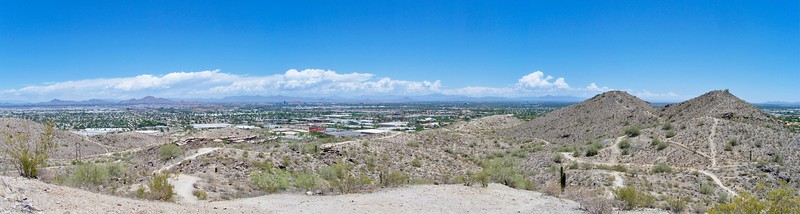 Panorama of East Phoenix and Tempe from South Mountain Park (2009)
