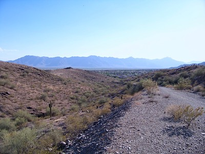 The Sierra Estrella Mountains viewed from South Mountain Park (2009)