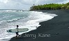 Hawaii's newest black sand beach on the Big Island at Pohoiki created by Kilauea eruptions at Lililani Estates in summer 2018.