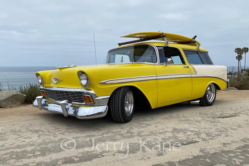 1956 Chevrolet Nomad at Sunset Cliffs, San Diego.