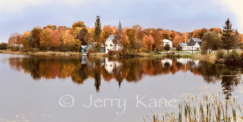 Autumn at Lake Hebron in Monson, Maine