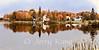 Autumn at Lake Hebron in Monson, Maine