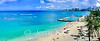 Kaimana Beach and the Natatorium, with Waikiki Beach hotels in the distance.
