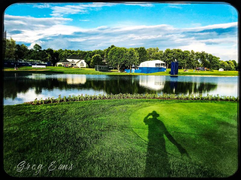Barbasol Classic golf tournament, 18th green - Lexington, KY