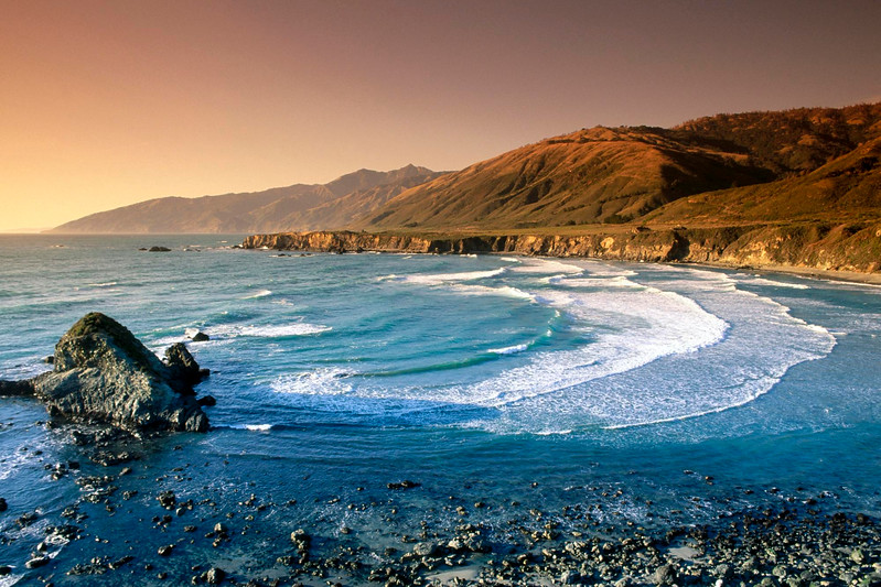 Sand Dollar Beach and Santa Lucia Range. California. USA