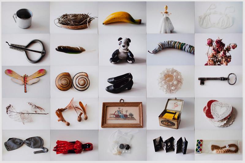 Correspondencias, collage II, 2012<br /> 28 x 40 inches<br /> 4 x 6 c-prints