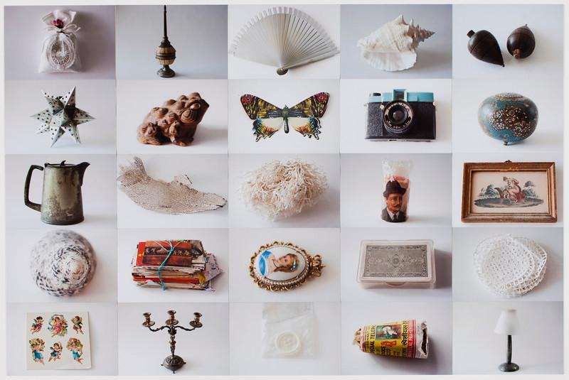 Correspondencias, collage 2012<br /> 28 x 40 inches<br /> 4 x 6 c-prints