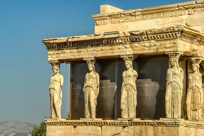 The Erechteion Temple at the Acropolis