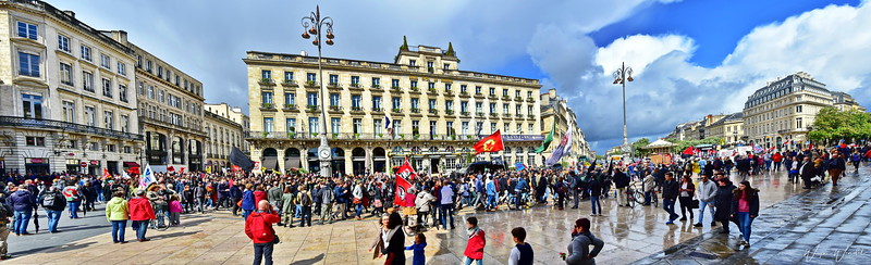 May Day Parade in Bordeaux