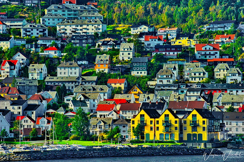 Entering Bergen, Norway