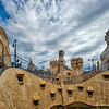 """R"" is for Roof of the La Pedrera, Gaudi's Casa Mila in Barcelona, Spain"