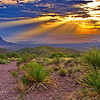 Sotol Vista Sunset in Big Bend National Park
