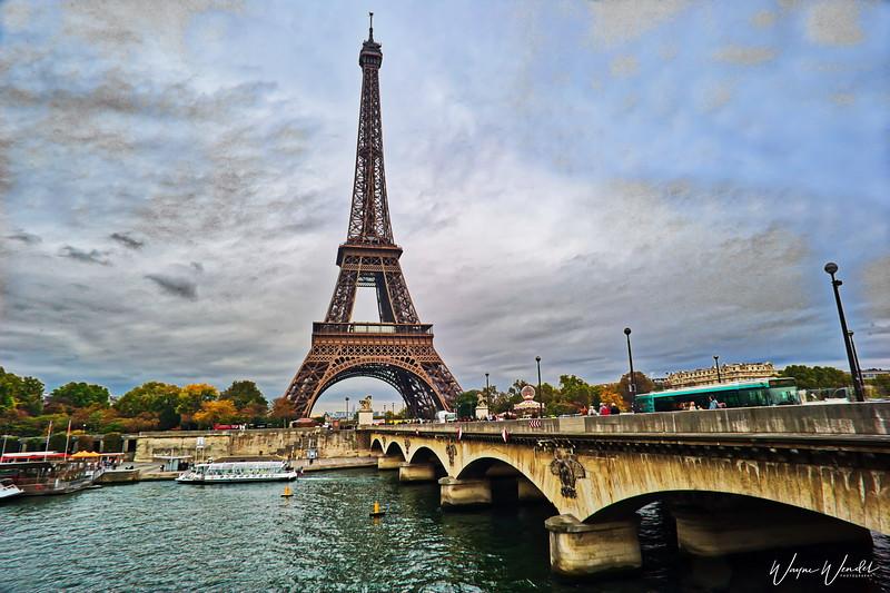Eiffel Tower & Bridge over the Seine
