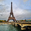 Eiffel Tower & Bridge over the Seine