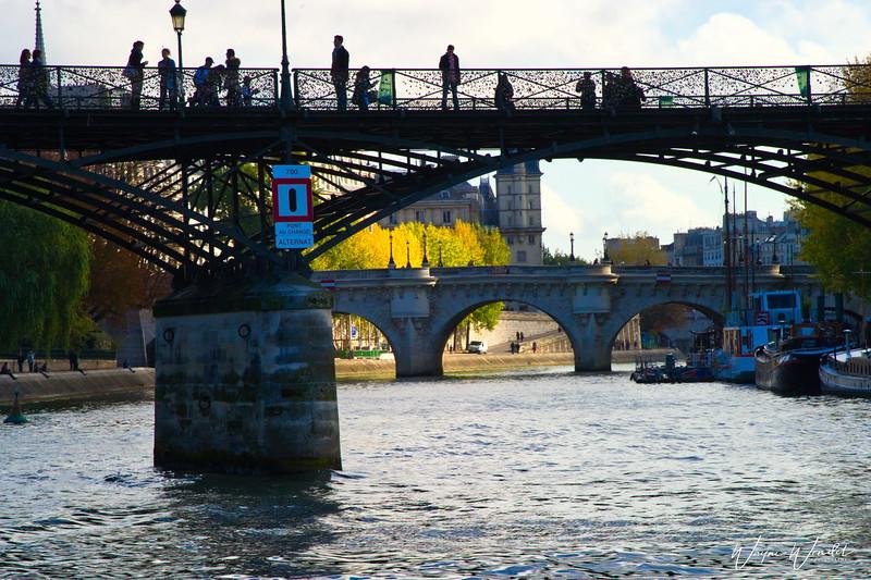 Pont des Arts (The Love Lock Bridge in Paris)