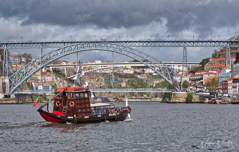 Rabelo Tourist Boat on the Douro River in Porto, Portugal