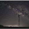 Seminole Canyon State Park:  Milky Way Over the Windmill