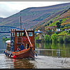 A Rabelo Sailing the Douro River from Pinhao, Portugal