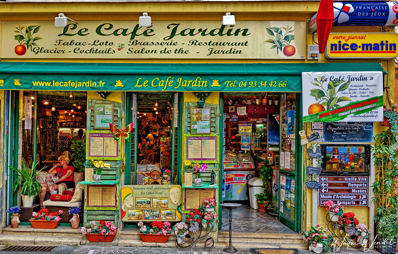 Le Cafe Jardin in Antibes, France on the Cote d'Azur
