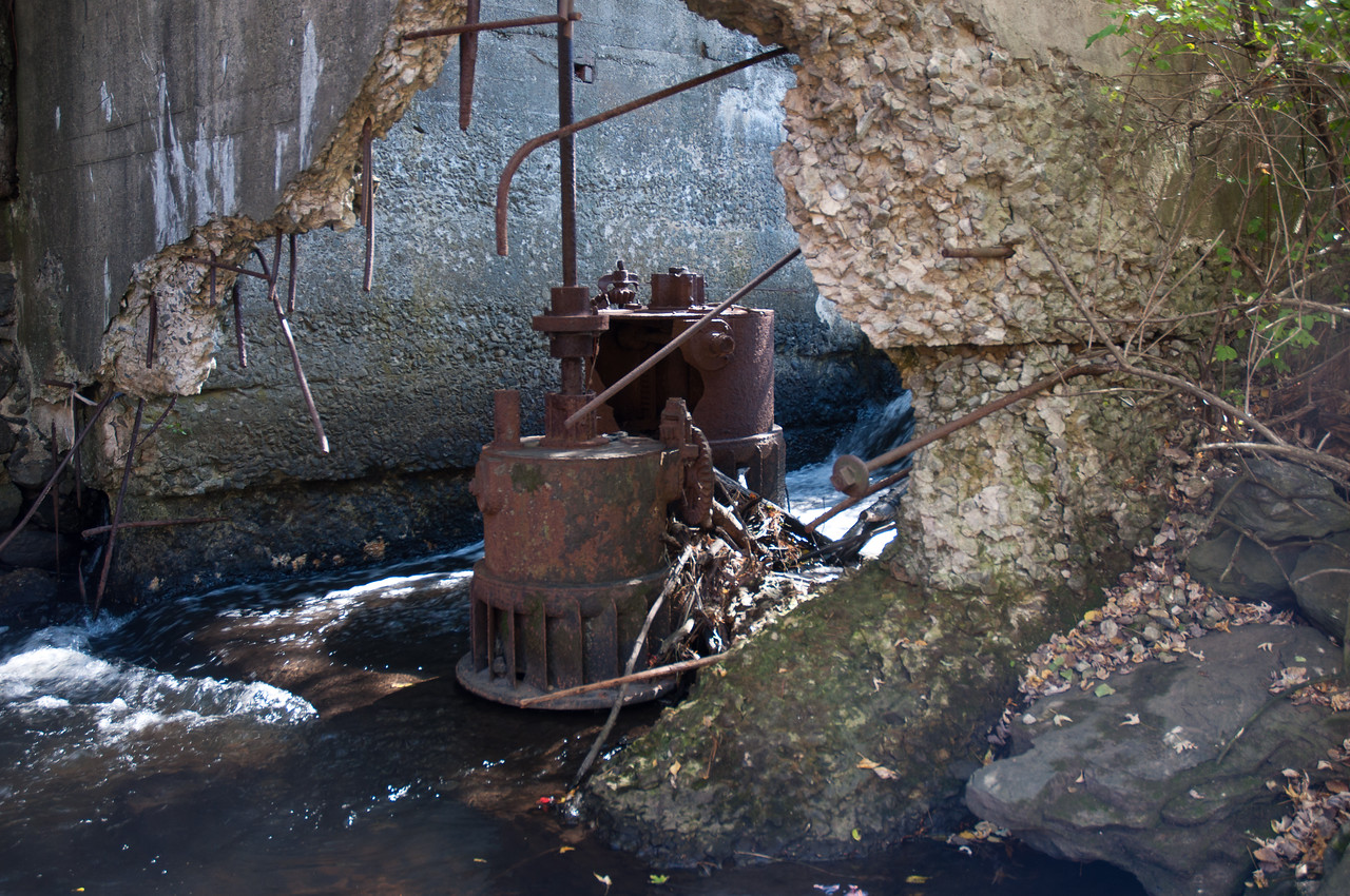 Old water power machinery, Lancaster,MA.