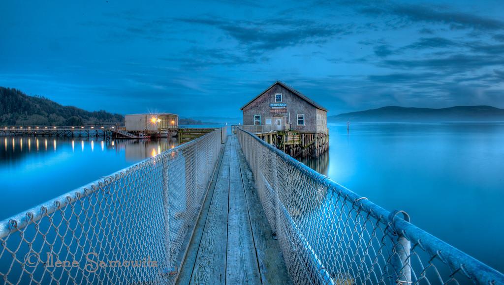Twilight at the Historic Garibaldi Pier<br /> Garibaldi, Oregon