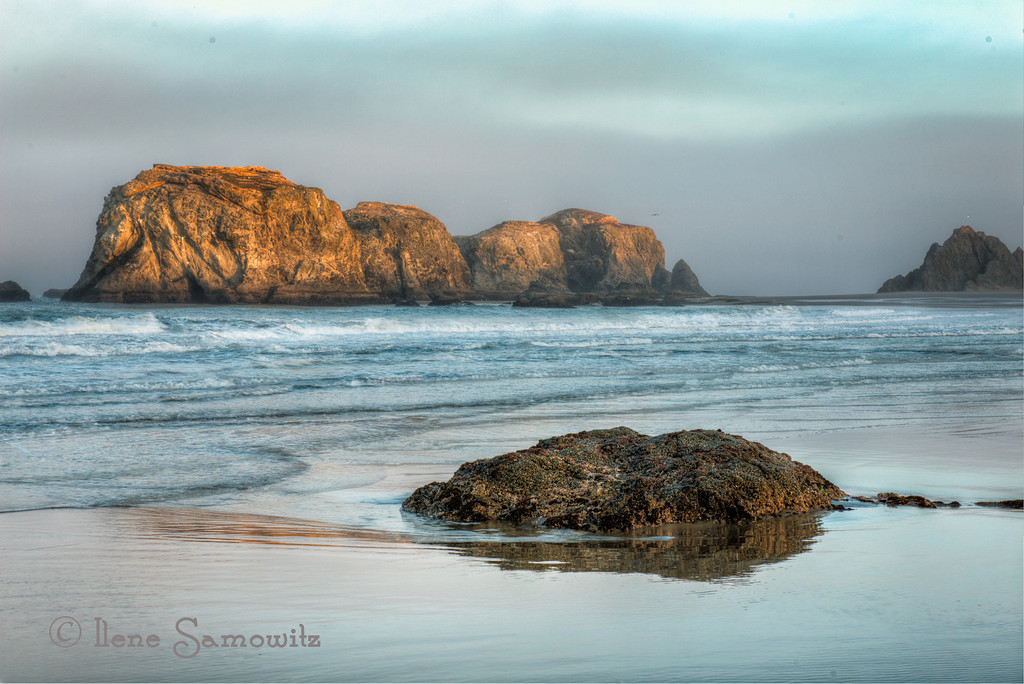 9-18-12 Bandon Dawn.  This is a 5 exposure HDR processed in Photomatix Pro and Color Effex 4.0.  I am falling behind in my commenting this week.  Hope you can bear with me and hope to have more time next week.  Posting late in the day but still making the deadline!!!<br /> <br /> Critiques Welcome.