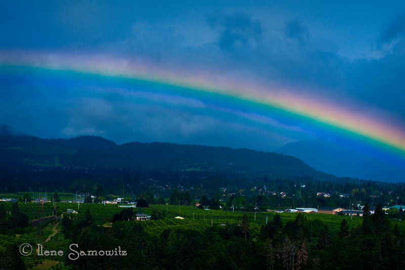 7-28-12 Rainbow Over Hood River Valley, It was a glorious morning at Panorama Point even without the wonderful view of Mount Hood.