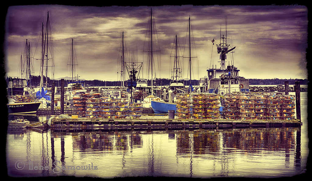 9-8-12 Blaine Fishing Boats - This is a single image HDR and then post processed in Lightroom 4 and Collor Effex 4. The framing was done in OnOne Photoframe. <br /> <br /> Critiques Welcome.