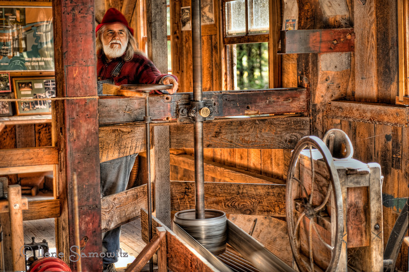 Running the Grist Mill, Cedar Creek Grist Mill, Woodland, Washington