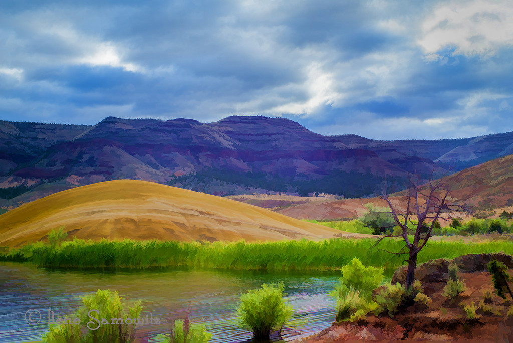 8-29-12 The Painted Hills of Oregon - I did a 5 shot HDR to squeeze the most dynamic range I could from the scene.  I then processed this using Topaz's Buz Slim filter.<br /> <br /> Critiques Welcome.