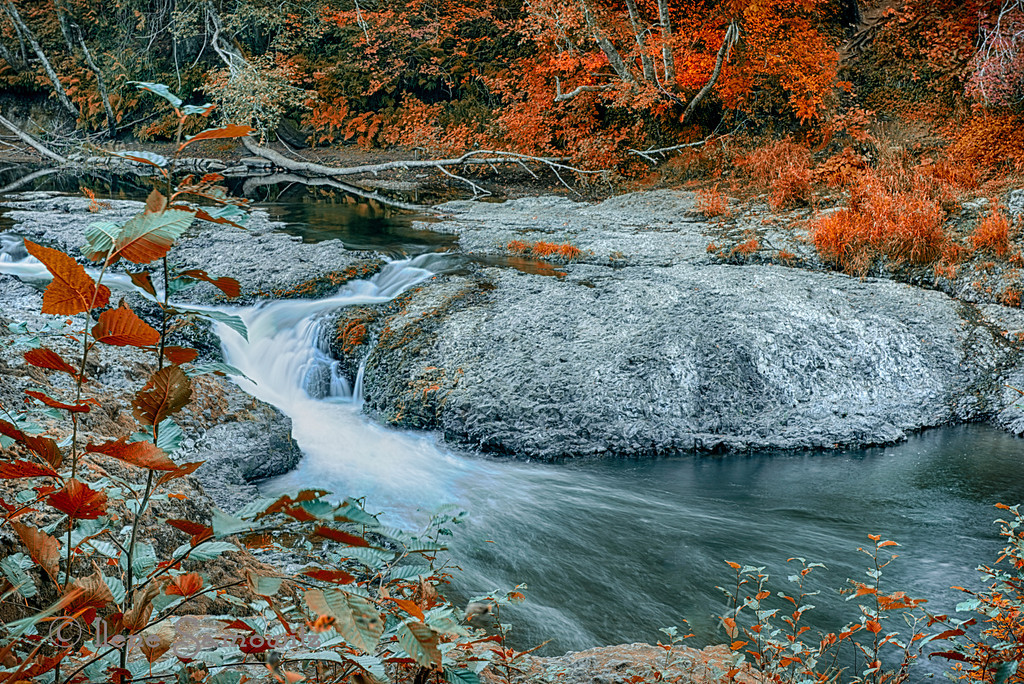 11-8-12 Rainbow Falls State Park, Washington.  This is a 5 exposure HDR processed in HDR Effex Pro 2 and Color Effex Pro 2.  <br /> <br /> Critiques welcome.