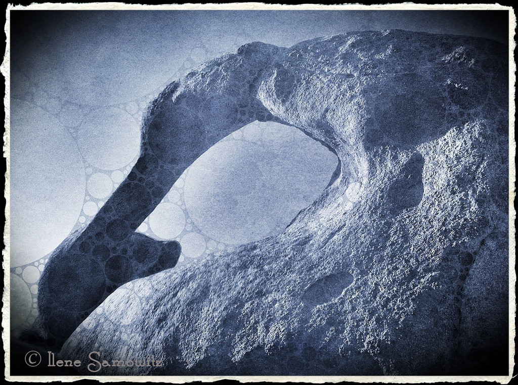 9-24-12 Mobious Arch, Alabama Hills, California - This was taken on a photo workshop I went to last October to the Eastern Sierras.  This was taken on the iPhone 4 and processed on the iPad.  Just arrived home from a 10 day trip to the Oregon Coast which included a 5 day photo workshop at Bandon.  Too tired tonight to pull out the laptop so I am working with images on the iPad.<br /> <br /> Critiques  Welcome.