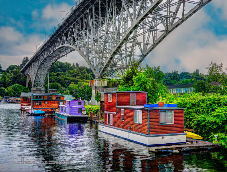 12-14-12 Seattle Houseboats Under the Aurora Bridge<br /> <br /> Thanks for the feedback.