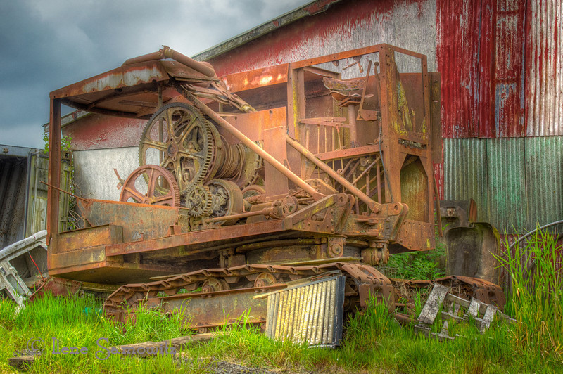 June 12-12 - Decaying Drag Line outside of Astoria, Oregon<br /> <br /> I find the colors, textures, and patterns of rural decay intriguing.  This was found outside of Astoria, Oregon a small town on the Northern Oregon Coast.