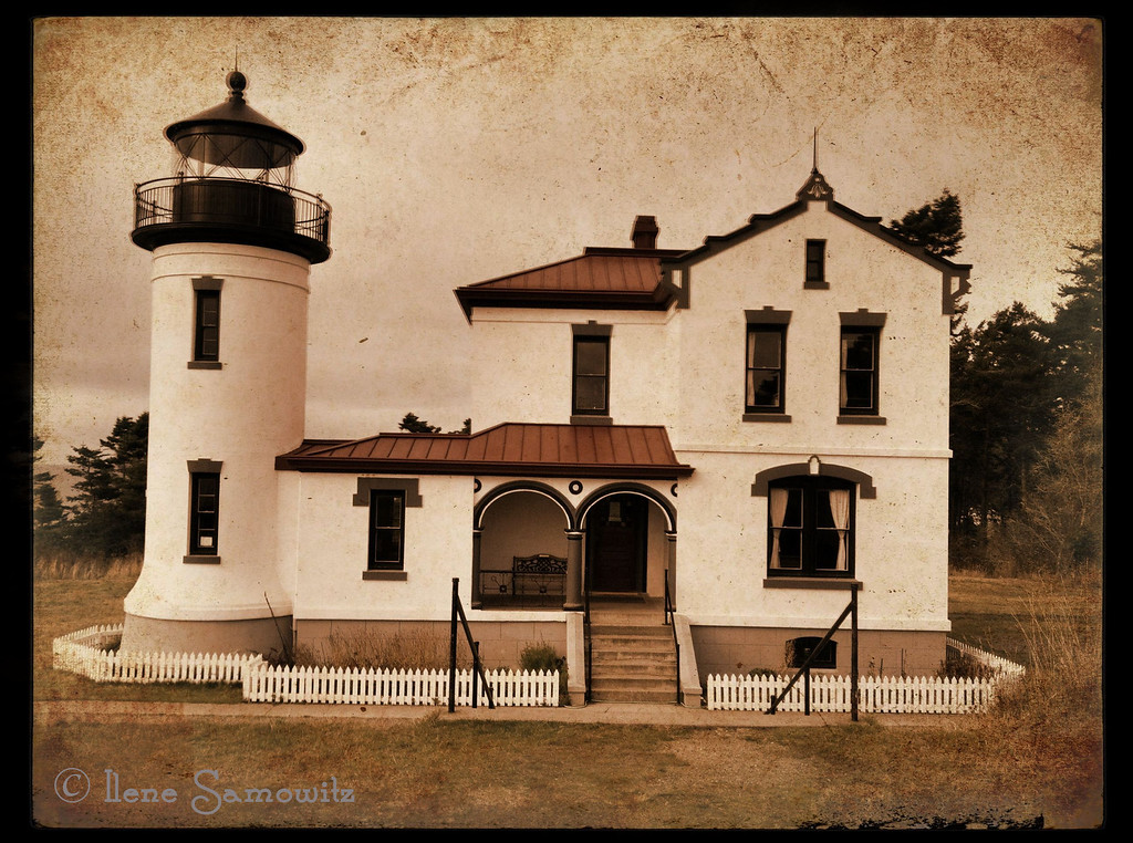 Admiralty Head lighthouse<br /> Fort Casey State Park, Whidbey Island, WA<br /> <br /> Another image taken with my iPhone and processed with camera awesome!