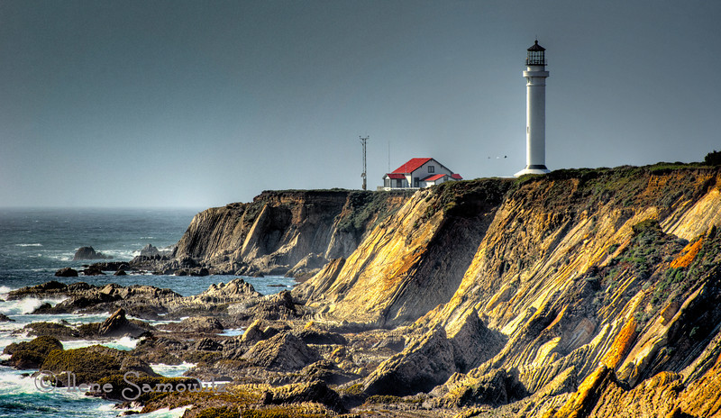 Point Arena Lighthouse, Point Arena, California<br /> <br /> This lighthouse stands over a dramatic coastline on the California coast between Bodega Bay and Mendocino.