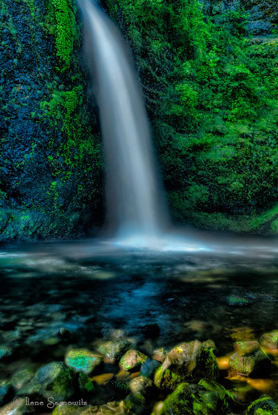 7-1-12 Lower Horseshoe Falls - Columbia River Gorge, Oregon