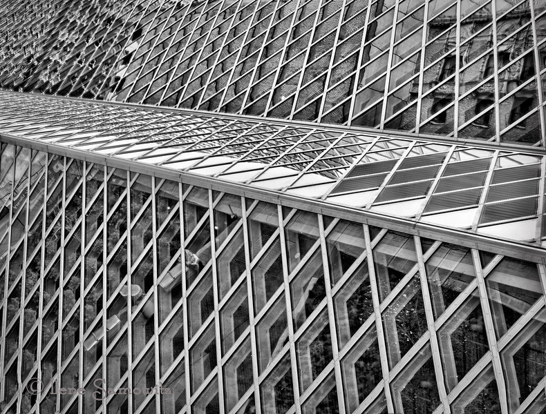 The Seattle Public Library in Black and White
