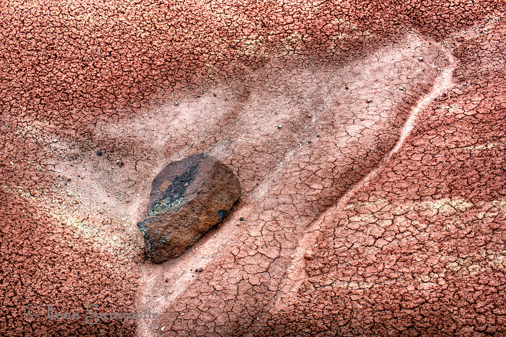 The Rock at the Cove, Painted Hills, Oregon, This shows a closeup of the textures and the details of the area.  <br /> 6-22-12