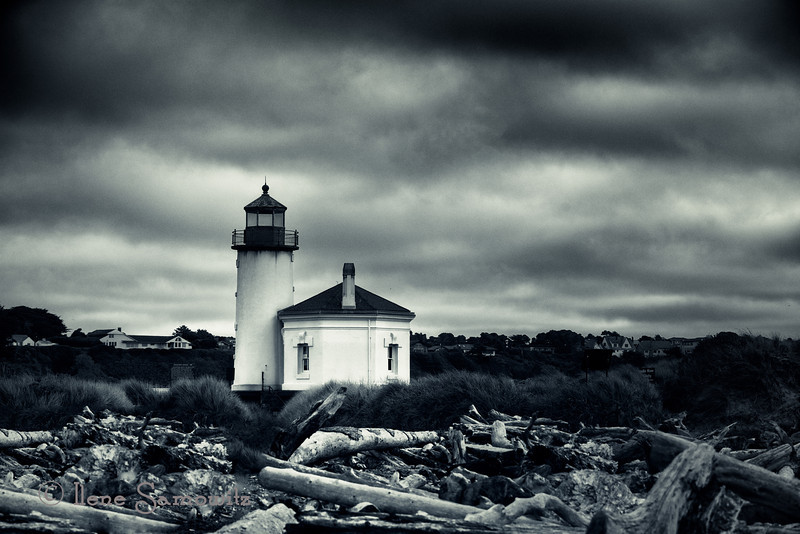 5-20-13 Another shot of my favorite lighthouse to photograph on the Oregon Coast.  This is a single exposure (not long) that was converted using Silver Effex 2 and Additional filters like cross processing in Color Effex.