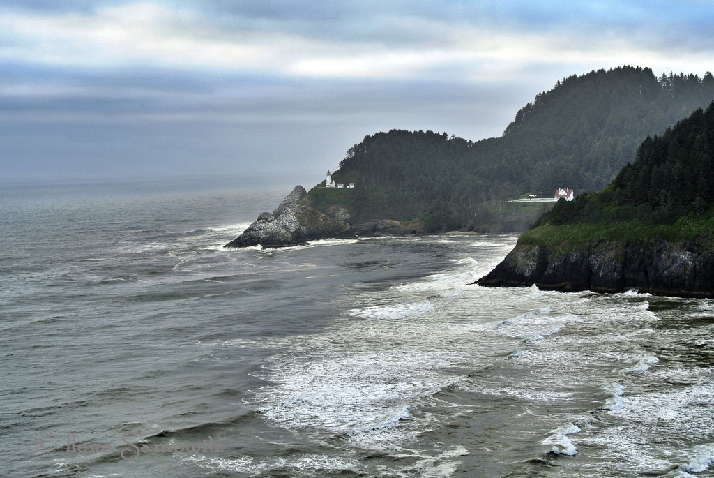 7-10-13 Heceta Head Lighthouse -  I am so excited about all the photo opportunities that await me as we will eventually be moving to Waldport, Oregon and this magnificent viewpoint will be 20 miles south of our land.  We were down there over last weekend.  Taken with the Nikon 1 V1 and processed with iPad.