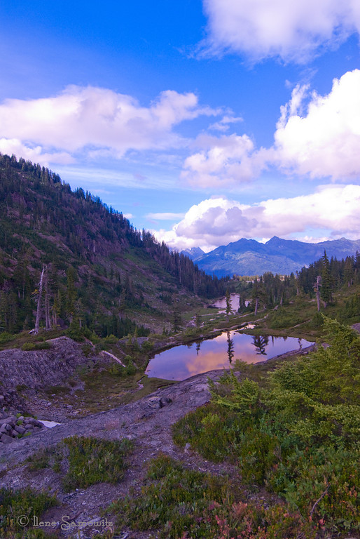 7-9-13 Alpine View, Mount Baker, North Cascades, Washington<br /> <br /> <br /> From the archives