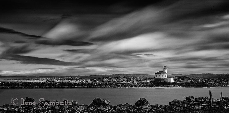5-8-13 This is a black and white conversion of the Coquille lighthouse that I posted yesterday.  I think I like the black ad white one better.  Thoughts?
