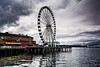 2-4-13 This is the last in the current series of Ferris Wheel shots in downtown Seattle taken with the Nikon 1 V1.